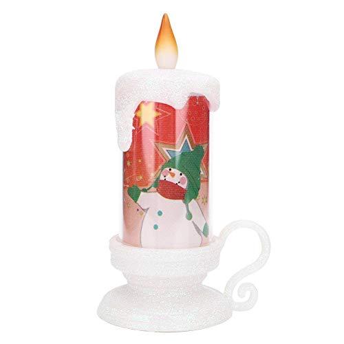 Combort Velas sin Llama LED Lámpara de luz de Vela electrónica Inicio Mesa Decoraciones navideñas(2#)