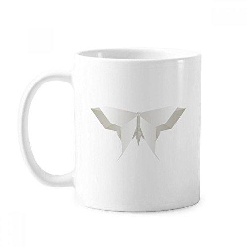 Weißer Origami-Becher mit abstraktem Schmetterlingsmuster Keramik Kaffee Porzellan Tasse Geschirr