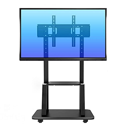 TV Stands Mobile with Storage Shelf and Heavy Duty Base Rolling TV Carts for 55'-75' LCD LED Plasma Flat Screen Panel