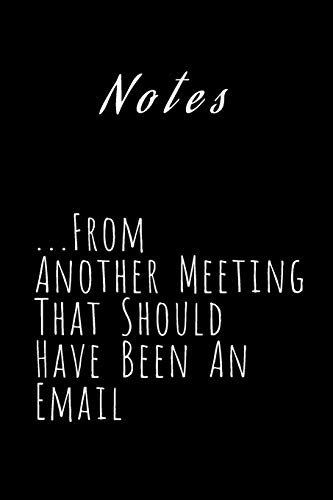 Notes From Another Meeting That Should Have Been An Email: Lined Notebook for Co-Worker  (6 x 9) 110 Pages