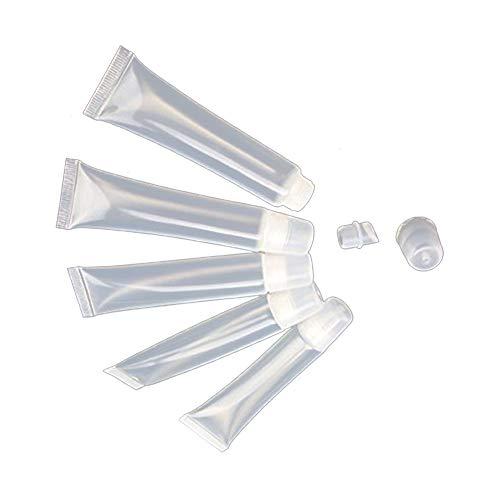 Ruiting 10Stk Leere Tubes 15ml Klare kosmetische Behälter nachfüllbar Plastikschläuche für DIY...