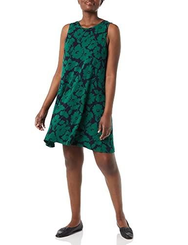 Amazon Essentials Women's Tank Swing Dress, Green Navy Abstract...