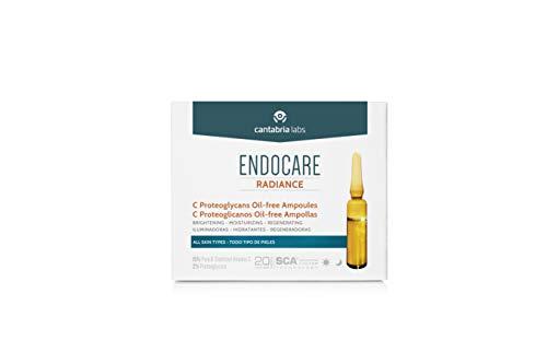 Endocare Radiance C Proteoglicanos Oil-Free - Ampollas Faciales Antiedad, Regeneradoras y Antioxidantes, con Vitamina C, Todo Tipo de Pieles, Negro, 30 Ampollas x 2Mililitros, 60 Mililitros