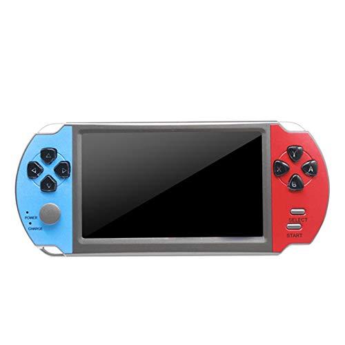 JooDaa 5 Pulgadas 128-bit FC nostálgico X7 Consola de Juegos PSP portátil Gab Arcade NES Consola de Juegos portátil Retro 16 GB 3000 Juegos incorporados (Caja de Color)