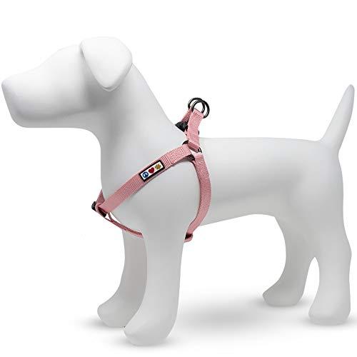 Pawtitas Arnes de Entrenamiento Chaleco Pechera para Perros y Cachorros arnes de adiestramiento Ideal para Caminar Perros Cachorros - Arnes Mediano Color Rosa