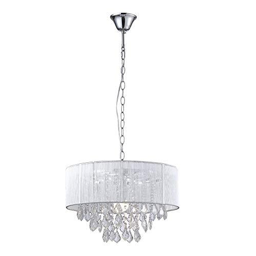Saint Mossi Moderne K9 Kristall Regentropfen Kronleuchter Beleuchtung Unterputz LED Deckenleuchte Pendelleuchte für Esszimmer Badezimmer Schlafzimmer Wohnzimmer Breite 43 x Höhe 27 cm - 6