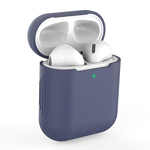 KLUCK Schutzhülle für Apple Airpods 1 und 2 Silikon Hülle Airpod Hülle Passexakt (Dunkelblau)