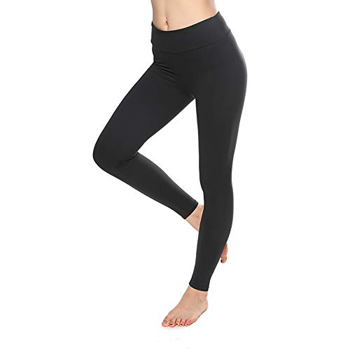 SEMIR Damen Leggings (2 Pack) Knöchellang Blickdichte Leggins Lang Yoga Tights Viele Größen Schwarz M