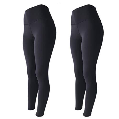 Kit 2 Legging Suplex Estampada Ou Lisa Leg Academia Ginastica, LEGBrasil, preto-preto, G