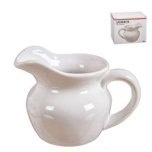 Lechera Ceramica Blanca 13x10 cm