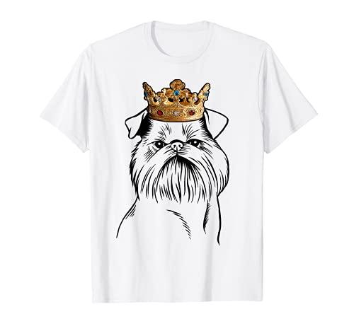 Perro grifón de Bruselas con corona Camiseta
