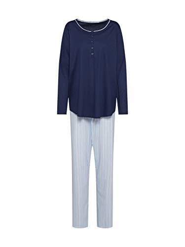 Calida Damen Sweet Dreams Pyjamaset 1 Zweiteiliger Schlafanzug, Peacoat Blue, L