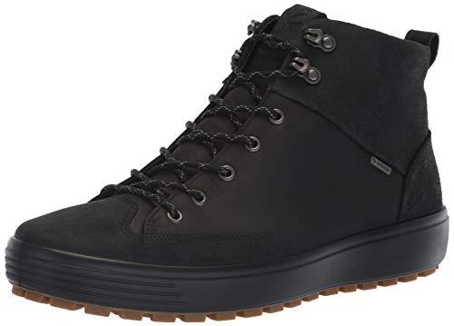 Ecco Herren Mens Soft 7 TRED GTX High Hohe Sneaker, Schwarz (Black/Black 51052), 42 EU