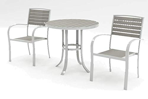 Sol 72 Outdoor Aluminium Frame Gracia 2 Seater Bistro set