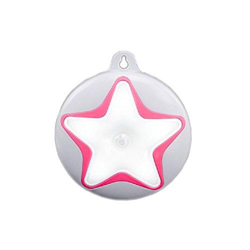 Shiratori Körper Infrarot-Sensor LED-Nachtlichter Stern für Außen Schlafzimmer Badezimmer-Tür-Verschluss und für Kabinett, leicht Genähtes, Rot