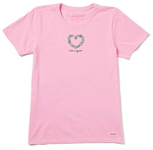 Life Is Good Damen Vintage Crusher Positive Graphic T-Shirt, Muscheln Happy Pink, XXXL