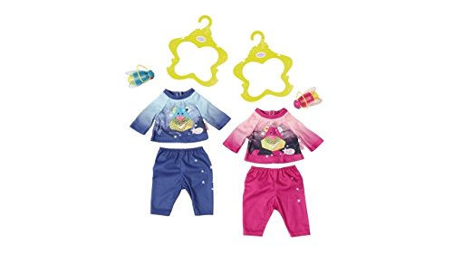 Zapf Baby Born Play&Fun Nightlight Outfit Juego de ropita para muñeca - Accesorios para muñecas (Juego de ropita para muñeca, 3 año(s),, 43 cm, Chica, 43 cm)