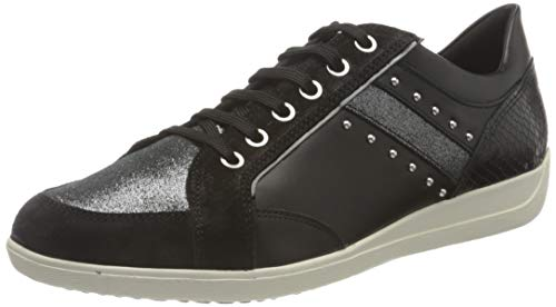 Geox Damen D Myria H' Sneaker, Schwarz H08, 39 EU