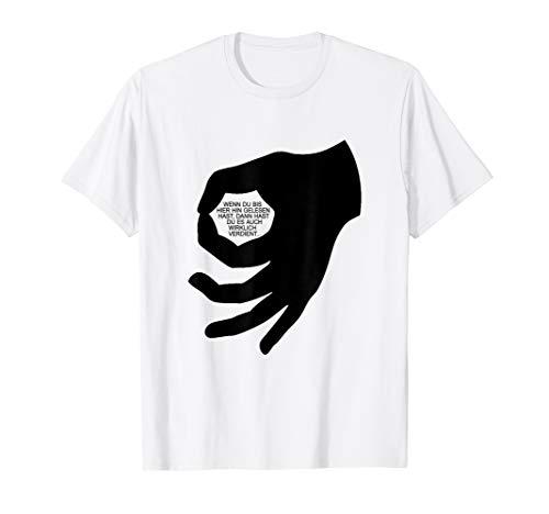 Lustiges Jugend Handzeichen Reingeguckt mit Spruch Geschenk T-Shirt
