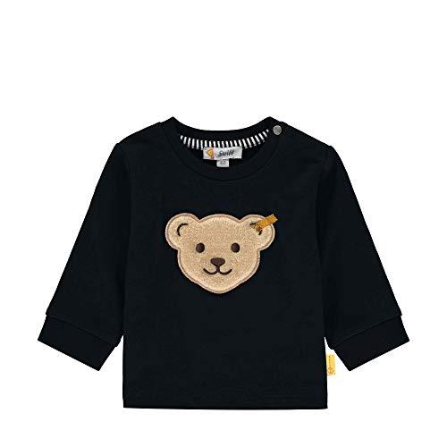 Steiff Baby-Jungen Sweatshirt, Blau (Black Iris 3032), 74 (Herstellergröße: 074)