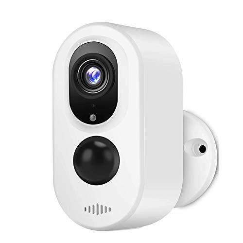 LLKK Cámara HD WiFi de 3,0 MP HD al aire libre inalámbrica de seguridad IP Cámara de vigilancia resistente a la intemperie PIR grabación de audio (color: 64 GB)