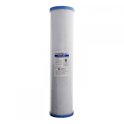 Hydronix CB-45-2001 Whole House, Commercial & Industrial NSF Coconut Carbon Block Water Filter, 4.5