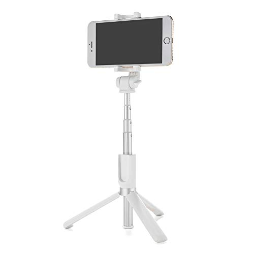 Zengqhui Selfie Stick 3 en 1 Bluetooth Remoto trípode Selfie Vara for iPhone X 8 Plus S9 Compacto Extensible (Color : White, Size : One Size)