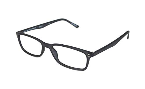 Reading Glasses by SCOJO New York, Gels Manhattan Readers, Rectangle Glasses, Matte Black, 1.50 Magnification