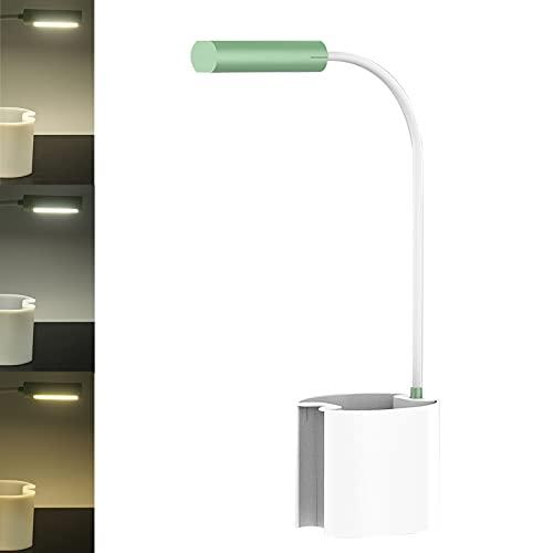Topwor Lampara Escritorio, Flexo LED Escritorio Regulable, 3 Niveles de Brillo, USB Recargable Lámparas de Mesa Plegable Luz Lectura Lámpara para Trabajo, Leer, Estudiar