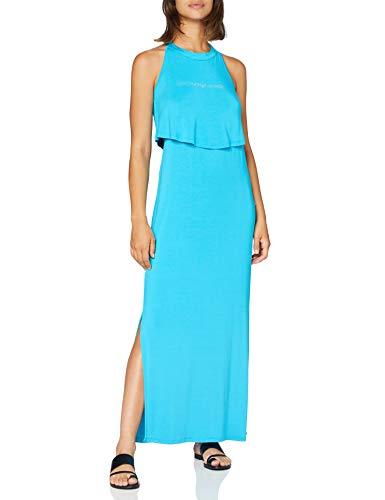 EMPORIO ARMANI swimwear Long Dress Beachwear Beach Party Vestito, Blu (Verde Acqua 00383), 46 (Taglia Produttore: Large) Donna