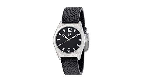 Reloj Uno de 50 Unisex Esfera Negra y Correa Negra