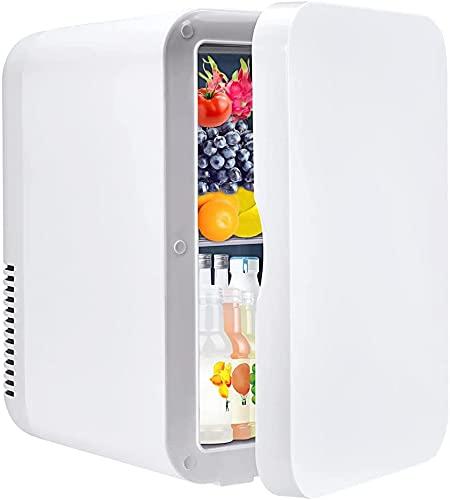 Mini frigorifero da 8 litri, mini frigorifero per auto per uso domestico Alimentazione AC DC Sistema termoelettrico portatile Scaldino per auto, uffici