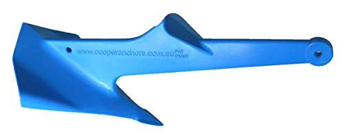 Cooper Anchor 1Kg/2.2lb - Nylon - PWC Anchor Jetski Anchor and Boat Anchor to 3.5m/12ft