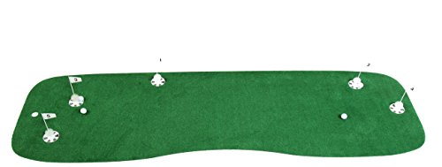 StarPro 10'x3' 5-Holes Pro-Am Professional Practice Putting Green. Realistic Practice of Your Set-Up and Putts All Over The Green. Not One Boring Direction. Indoor/Patio/Poolside. Lower Your Score!