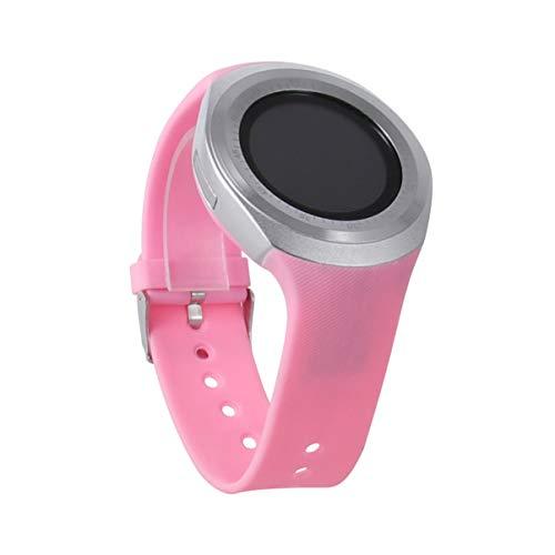 NICERIO Smartwatch,Y1 Bluetooth Touchscreen Smart Watch mit Micro SIM TF Slot Tragbare Geräte für iOS Android Smartphone (Pink)