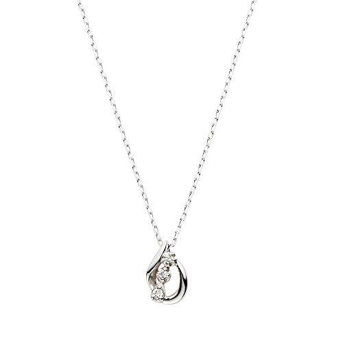 [VAヴァンドーム青山] ダイヤモンド 0.01ct ホワイトゴールド K10 ネックレス GJBN042140DI