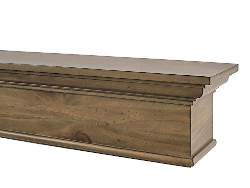 dark wood fireplace mantel - 9