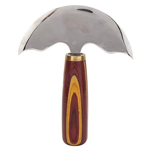 Cuchillo de media luna DealMux, cuchillo de cuero redondo, cuchillo de uso general afilado y fácil de controlar para tallar cuero (grande)