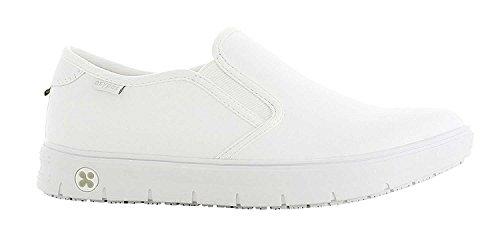 Oxypas Oxypas Neu Fashion Berufsschuh komfortabeler Sneaker Nadine aus Leder antistatisch (ESD) in vielen Farben (36, weiß)