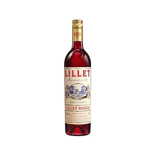 Lillet Rouge französischer Aperitif – Weinaperitif mit frischer Orange, Waldfrüchten und Vanille – Alkoholisches Getränk mit edler rubinroter Farbe aus Merlot-Trauben – 1 x 0,75 L