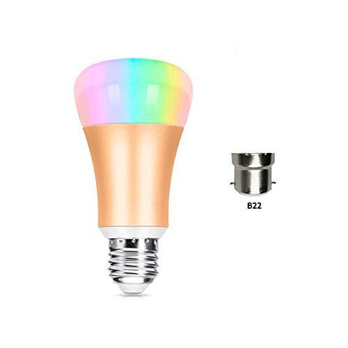 Sky God LED intelligente gloeilamp, kleur veranderbare kleur, straalt elke kleur in de regenboog en afstelbare witte lampen uit, smart home-gloeilamp wordt via een smartphone aangestuurd.