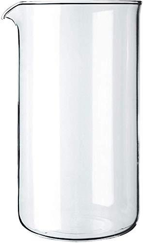 Bodum 1508-10 Ersatzglas zu Kaffeebereiter 8 Tassen, 1.0 l, ø 9.6 cm durchmesser