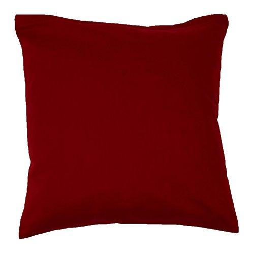 Hans-Textil-Shop Kissenbezug 40x40 cm Bordeaux Rot Baumwolle