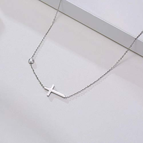 Necklace Pendant Chain Jewelry Temperament Cross Charm Necklaces Women Minimalist Stainless Steel Bar Choker Collar Jewelry Gifts For Her-782S