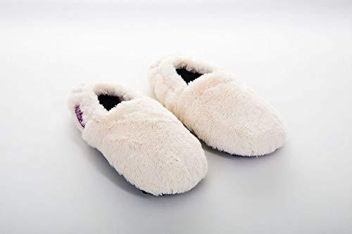 Habibi Plush Classic – 1531 Slippers creme, Gr. L (41-45) Wärmepantoffeln/Wärmeschuhe zum Erwärmen in der Mikrowelle/Backofen
