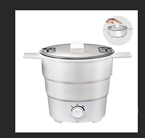 Portable electric pot.,hot pot, Multi-functional Mini electric kettlet, water boiler,Maternal and Baby Grade Silicone Material Foldable Food Heating Container, (100V-240V) Travel, Hotel, Dormitory, Outdoor Cooking.