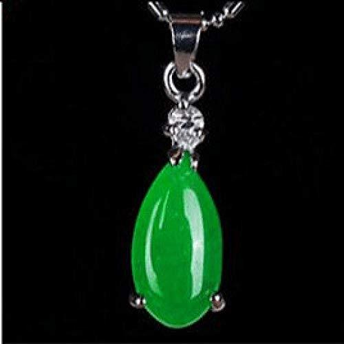 TFTHG Colgante, Collar de Jade para Mujer Verde Natural Hetian Jade Colgante 925 Plata Jadeíta Amuleto Moda Encanto Regalos para Mujeres Her 2
