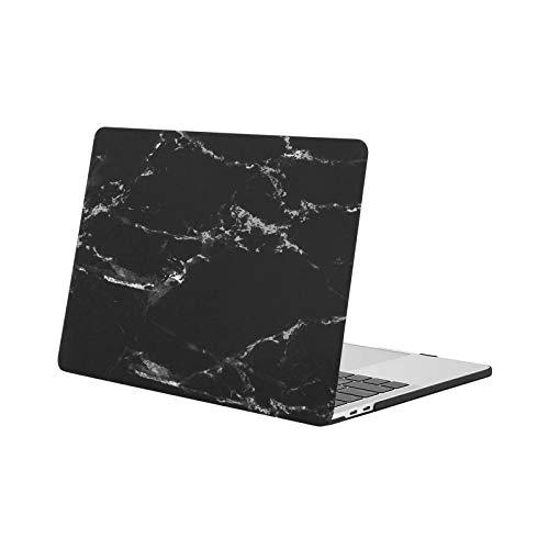 MOSISO Hülle Kompatibel mit MacBook Pro 13 2020-2016 Freisetzung M1 A2338/A2289/A2251/A2159/A1989/A1706/A1708 - Plastik Muster Hartschale Kompatibel mit MacBook Pro 13 Zoll, Schwarz Marmor