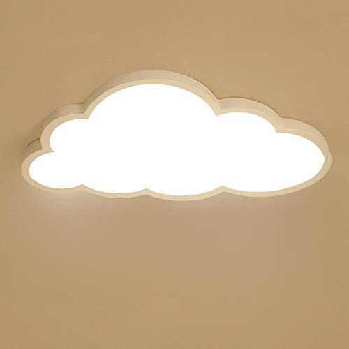 Nubes Lámpara de Techo LED Ultrafino 5cm Nubes Creativas Luz de Techo Lámpara de Techo Lámpara de Niños Y Niñas Lámpara de Dormitorio Lámpara Romántica de Techo (Color : Luz Blanca 6000k)