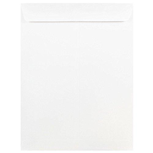 JAM PAPER 9 x 12 Open End Catalog Commercial Envelopes - White - 25/Pack